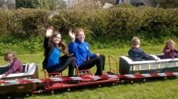 Grace and rachel on train